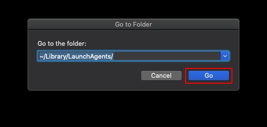 Gå till ~/Bibliotek/LaunchAgents