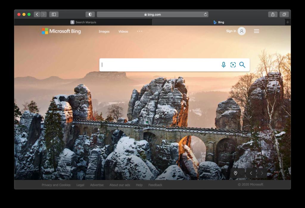 Search Marquis-infektionen får dig att kontinuerligt hamna på Bing