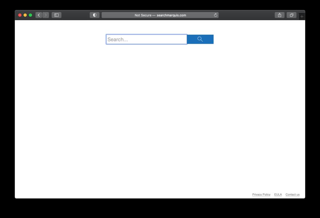 Rudimentär design av searchmarquis.com-sidan