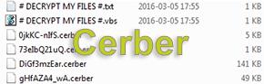 Cerber ransomware: # Decrypt My Files # virusborttagning och filåterställning
