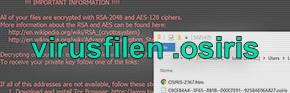 Osiris ransomware: Dekryptera och ta bort .osiris file viruset