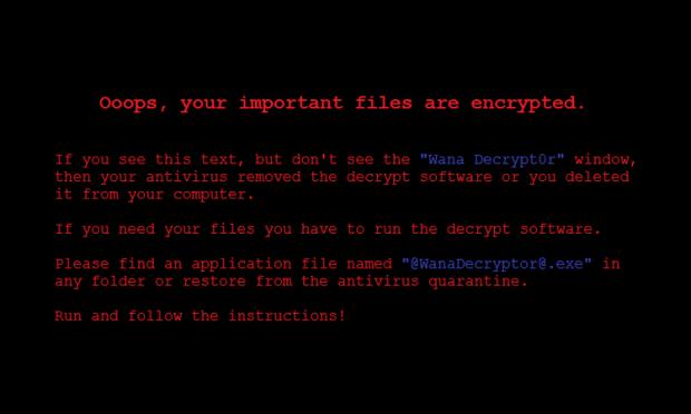 WannaCry skrivbordsunderlägg